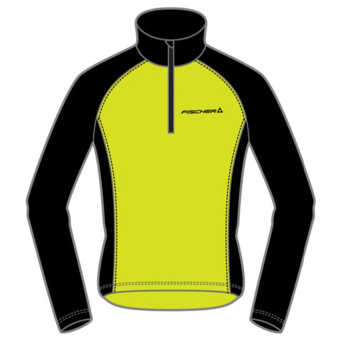 polar fischer skishirt adelboden black yellow