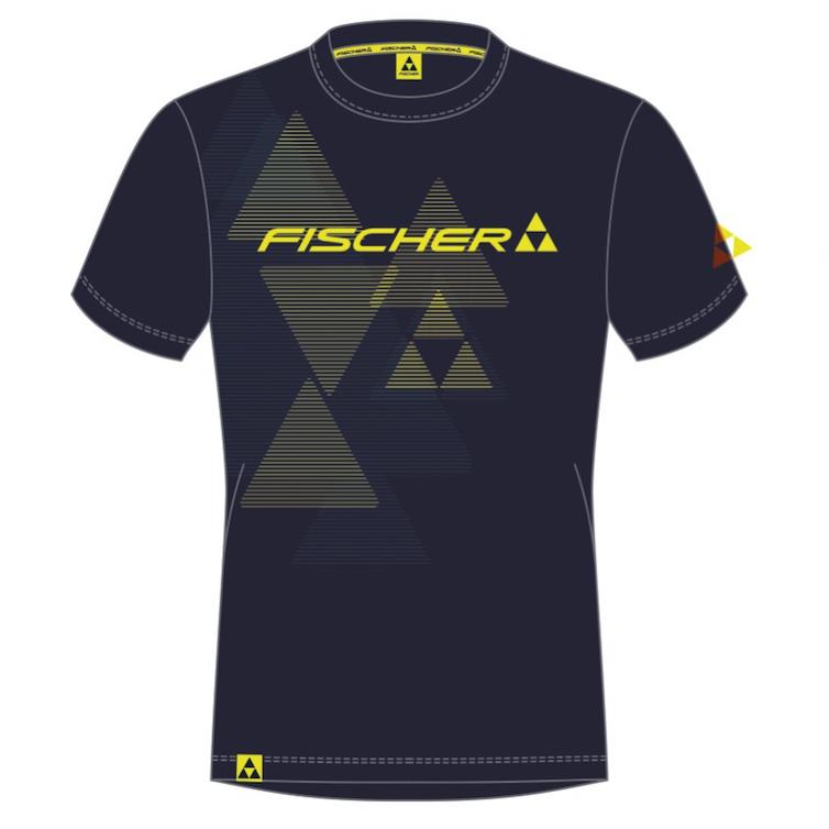 t-shirt fischer bromont navy