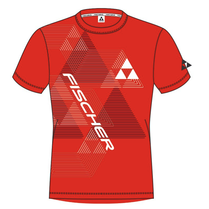 t-shirt fischer leogang red