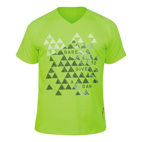 fischer t-shirt valuga neon yellow