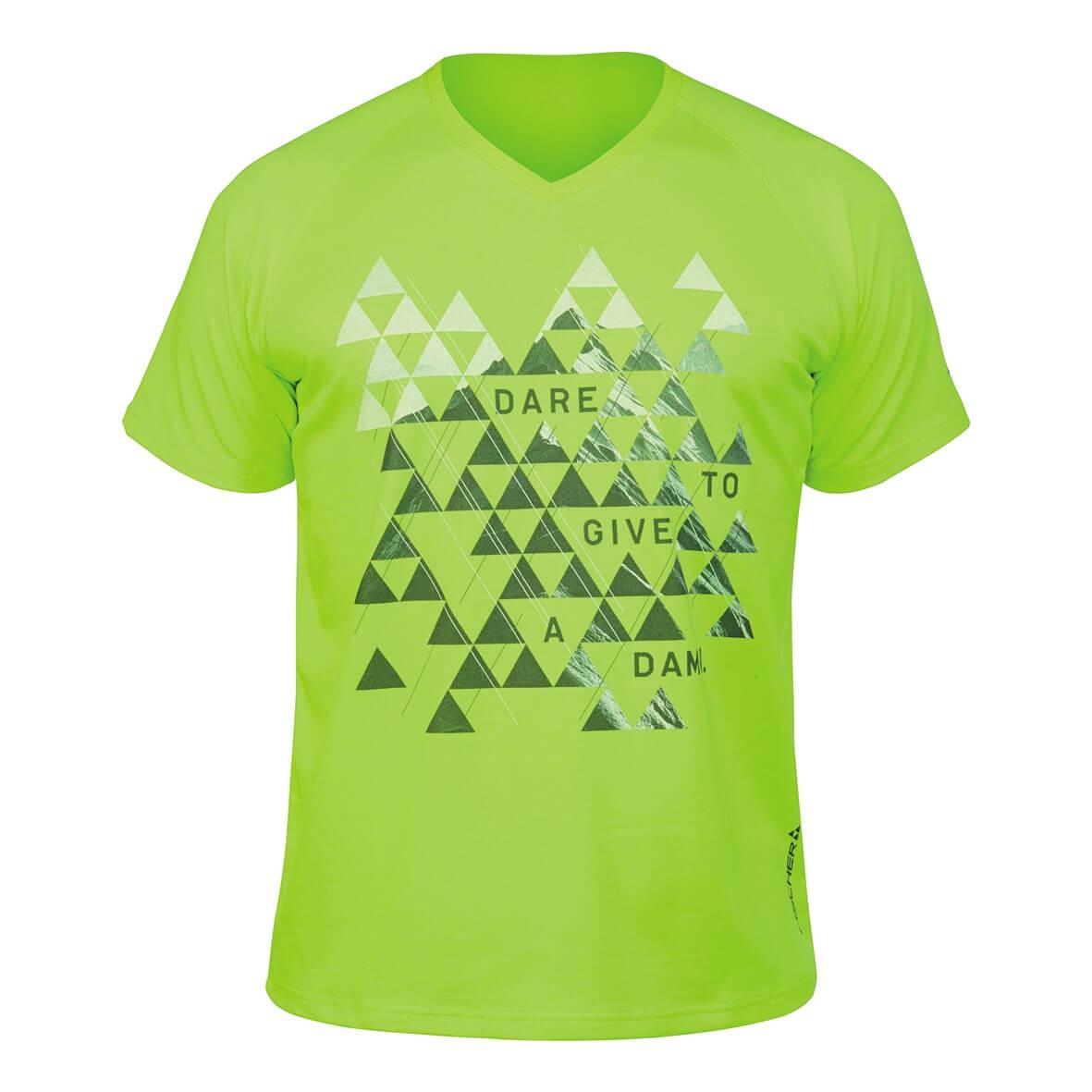 fischer t-shirt valuga neon yellow