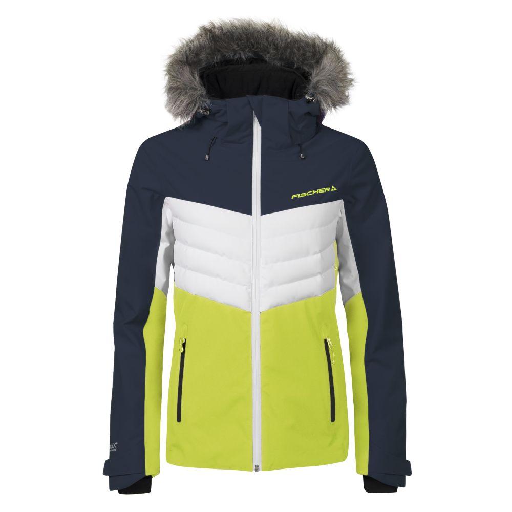 kurtka fischer ski jacket yellow