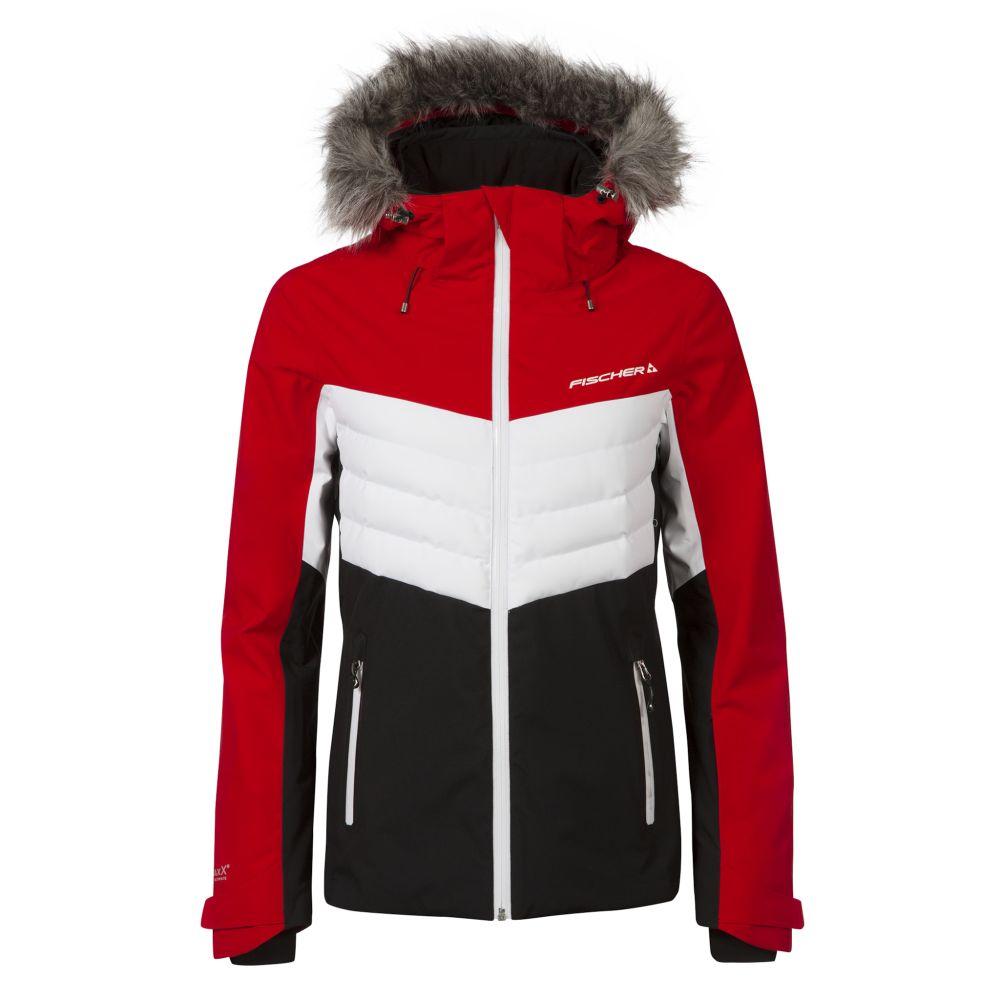 kurtka fischer ski jacket red